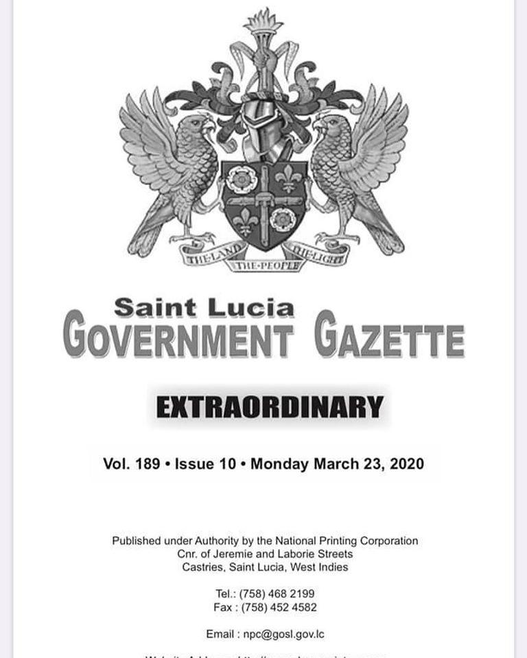 Saint Lucia Gov. Gazette